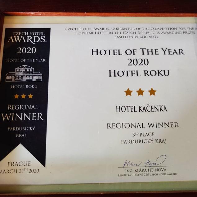 Hotel roku - diplom