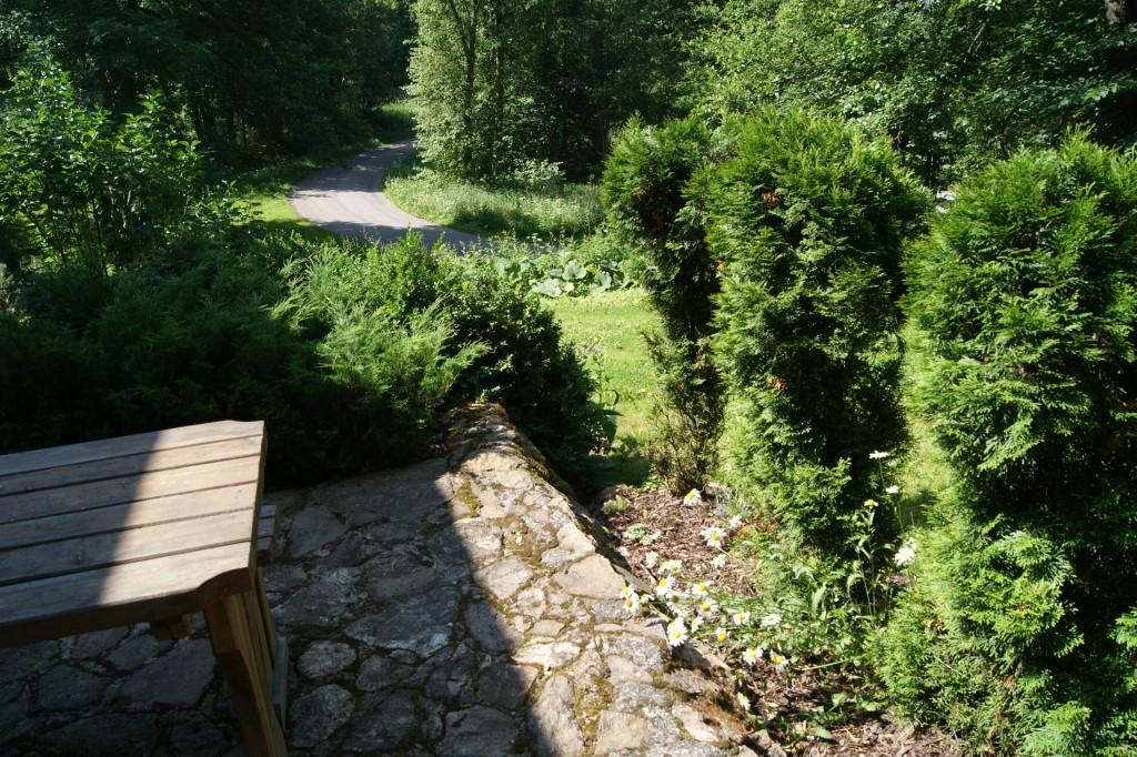 Pohled od chaty vpravo